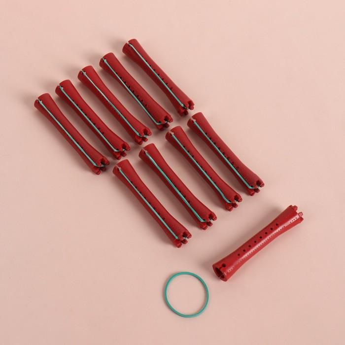 Бигуди-коклюшки, d=11 мм, 10шт, цвет МИКС
