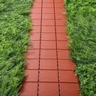 Плитка садовая, 30 х 30 см, пластик, набор 4 шт., терракотовая