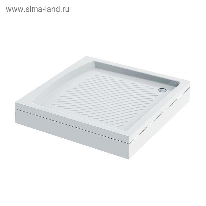 Поддон душевой IDDIS, 210S099i22, квадратный, акриловый, 90х90х16,5 см