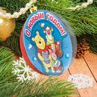 """Новогодний ёлочный шар """"С Новым годом"""" Медвежонок Винни и его друзья с 3D аппликацией"""