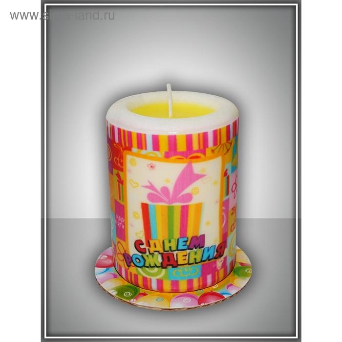 """Свеча-сюрприз """"подарок""""  арома ваниль"""