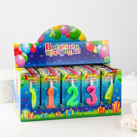 """Шоу-бокс со свечами для торта цифры """"Классика"""" 50 штук"""