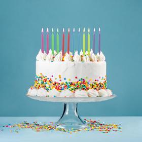 """Свечи в торт """"Цветное пламя"""", 9 см, набор 12 шт"""