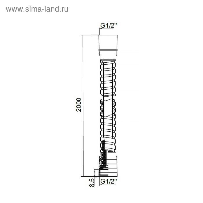 Шланг для душа IDDIS, 011P200I19, 2 м