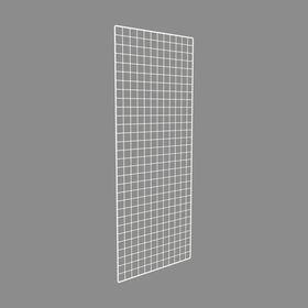 Сетка торговая 80*200 белый, окантовка 8мм, пруток - 4мм, цвет белый Ош