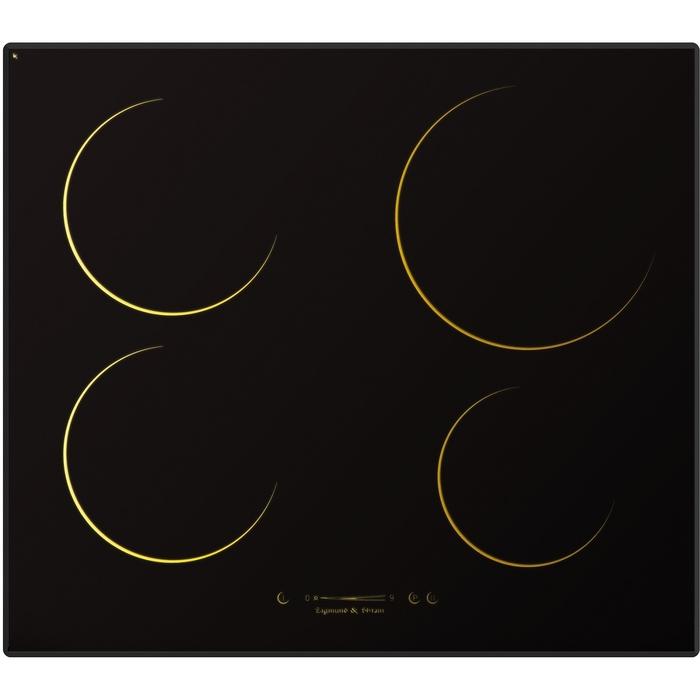 Варочная поверхность Zigmund & Shtain CIS 162.60 DK, индукционная, 4 конфорки, черная