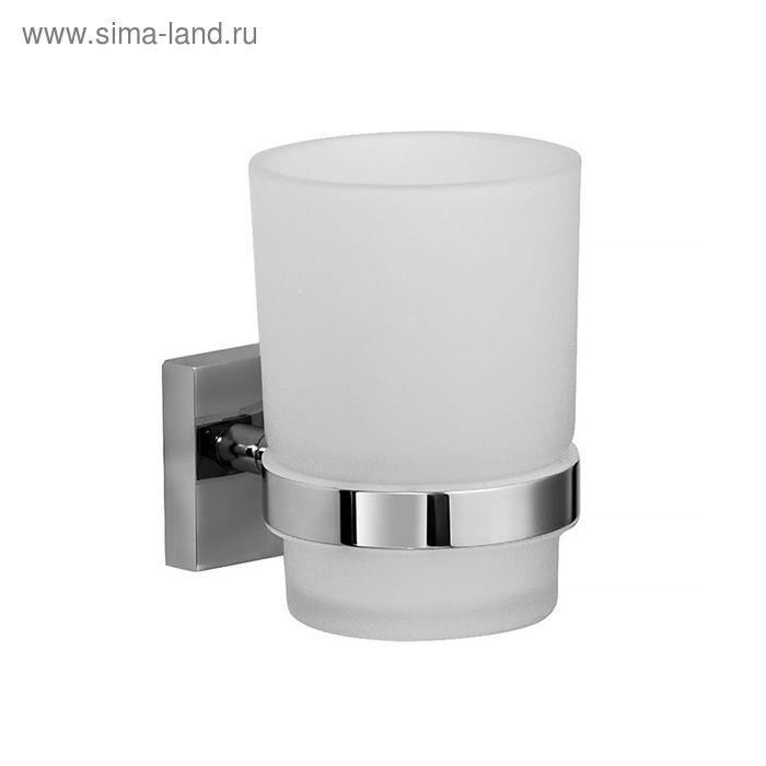 Подстаканник одинарный Edifice, IDDIS, EDIMBG1i45, матовое стекло, латунь