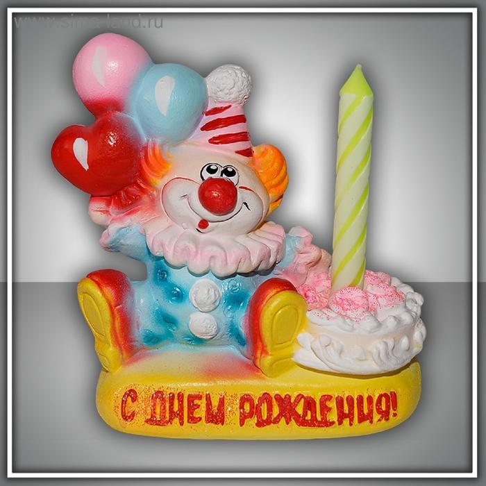 Свеча в   подсвечнике Клоун - Волшебная Свеча желаний