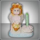Свеча в   подсвечнике Ангел - Волшебная Свеча желаний