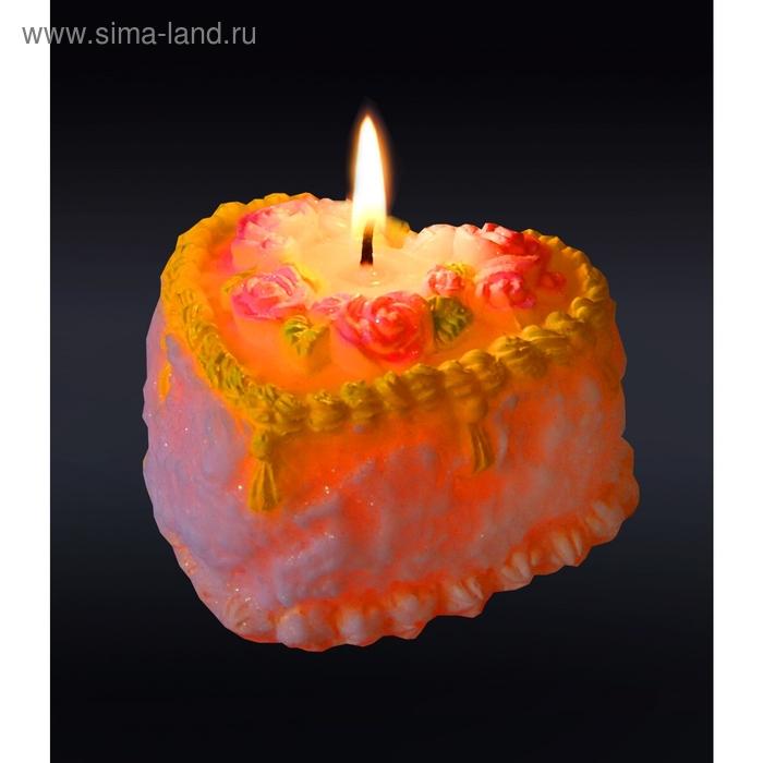 """Свеча мигающая """"Тортик"""""""