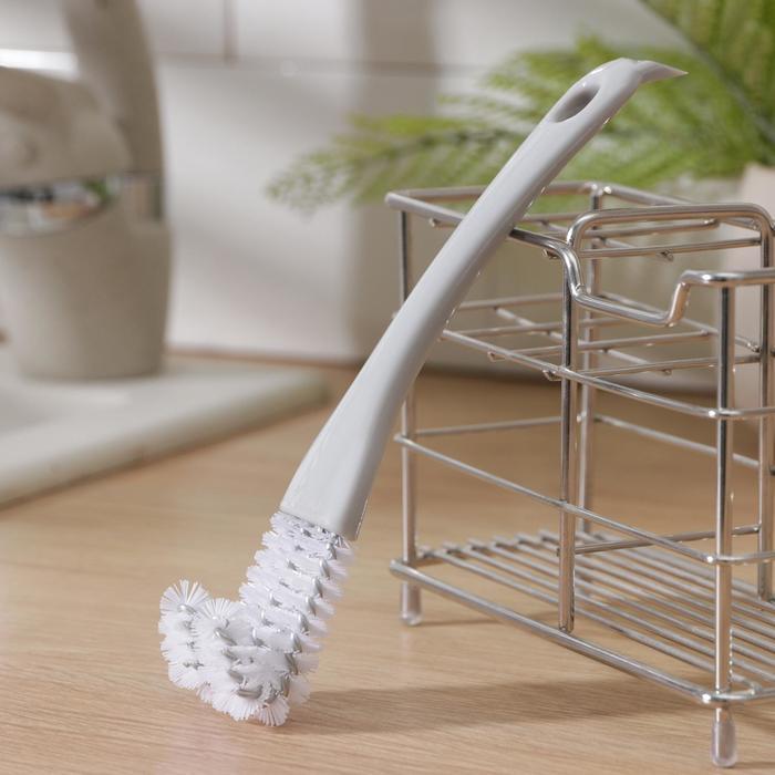 Щётка для чистки посуды 17×3 см, цвет МИКС