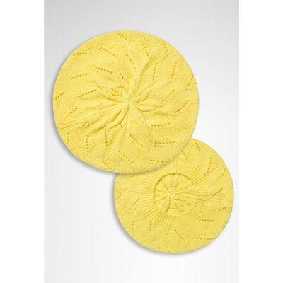 Шапка для девочек, размер 56-58, цвет жёлтый