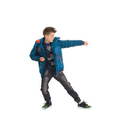 Куртка для мальчиков, 8 лет, цвет морская волна BZWL473