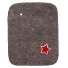Коврик для бани и сауны «Знамя», серый, 30 × 40 см