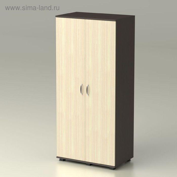 Шкаф 2 х створчатый с полками КАМЕЯ 858х522х1900  венге/дуб млечный
