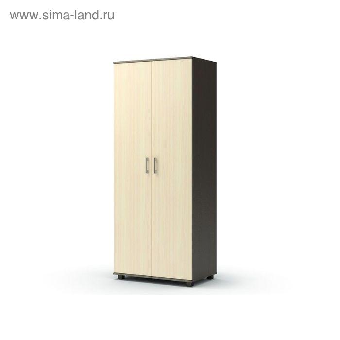 Шкаф 2 х створчатый без ящиков МАКСИМ 858х522х2100  венге/дуб млечный