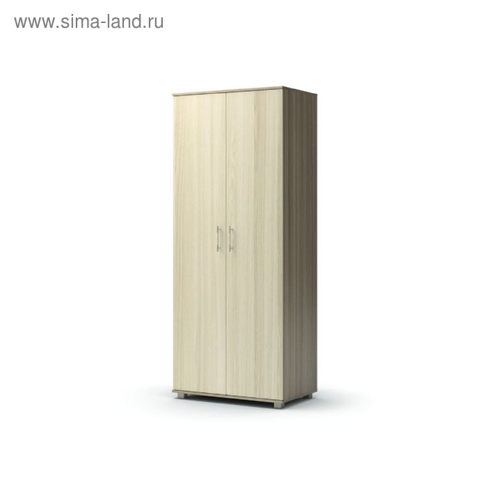 Шкаф 2 х створчатый с полками МАКСИМ 858х522х2100  ясень шимо темный/ясень шимо светлый