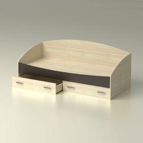Кровать  Максимка  с ящиками  840x651х1932    дуб млечный/венге