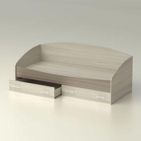 Кровать  Максимка  с ящиками  840x651х1932    ясень шимо светлый/ясень шимо темный