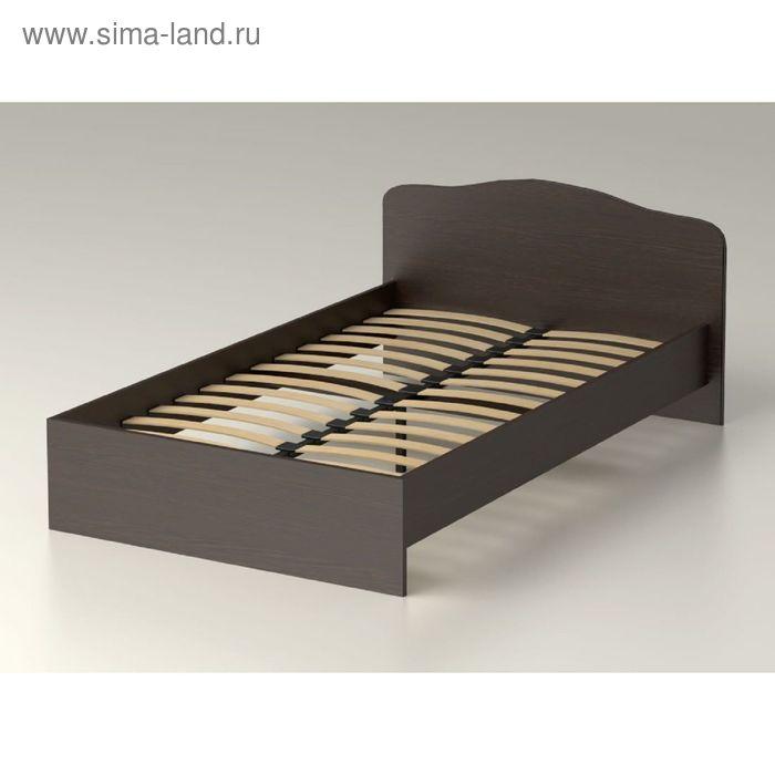 Кровать 120  с орт.основанием   Фея  22   1300х760х2038    венге