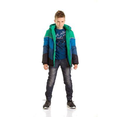 Куртка для мальчиков, возраст 9 лет, цвет зелёный