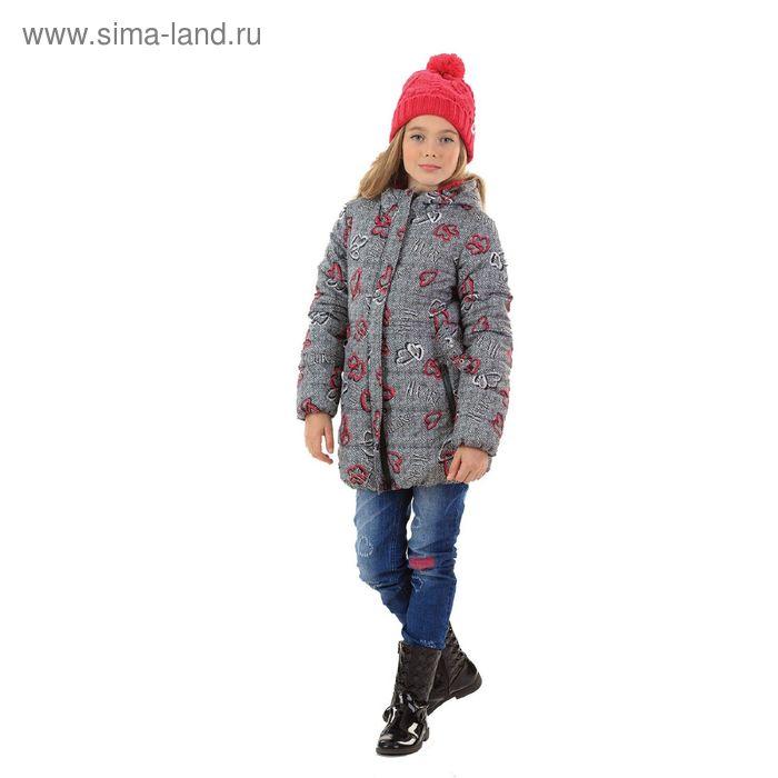 Куртка для девочек, 7 лет, цвет  серый GZWL4006