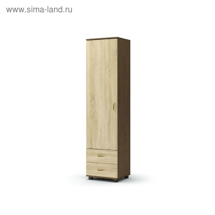 Шкаф 1 2 ВИКОНТ 524х440х2100  груша монтего/дуб сонома