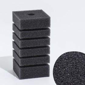 Rectangular sponge filter turbo No. 3, 12x6x6 cm