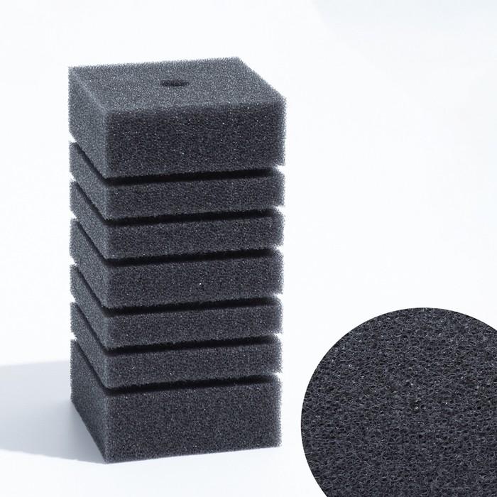 Губка прямоугольная запасная для фильтра турбо №9, 16х8х8 см