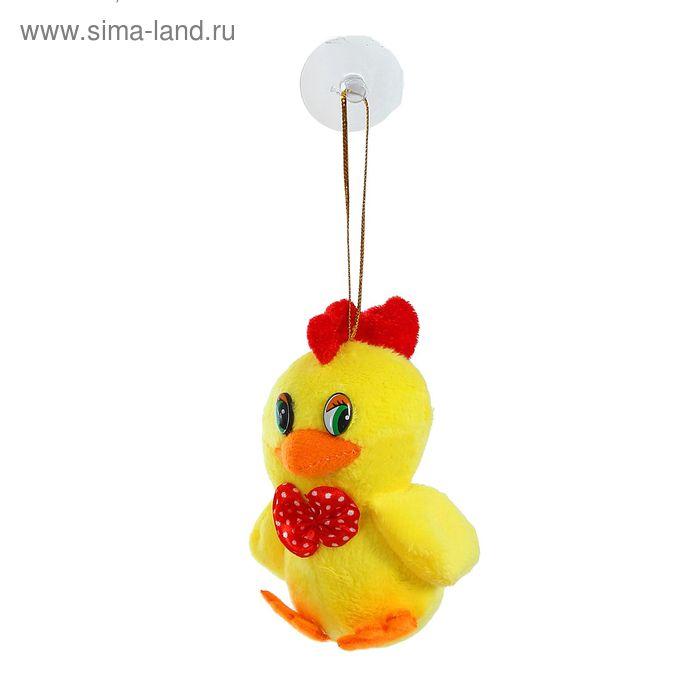 """Мягкая игрушка - подвеска """"Цыпленок"""" бабочка в горох, цвета МИКС"""