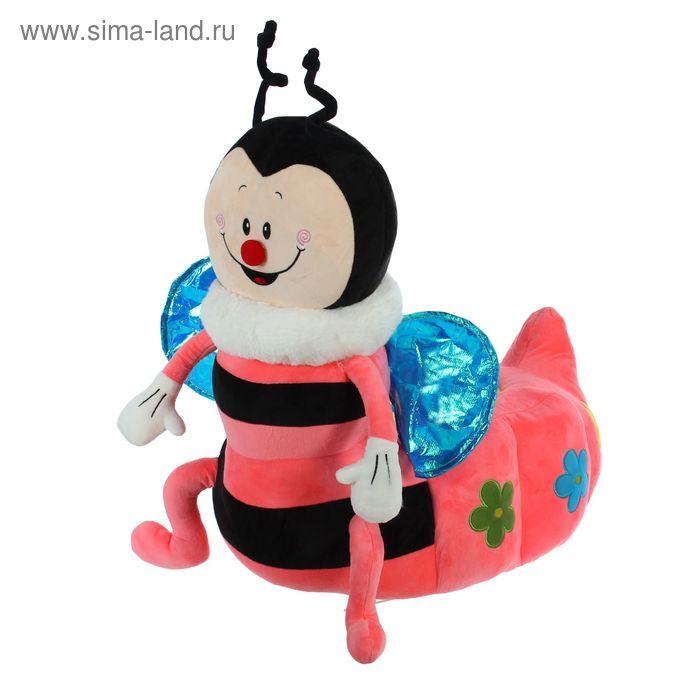"""Мягкая игрушка-кресло """"Пчёлка"""", цвет розовый"""