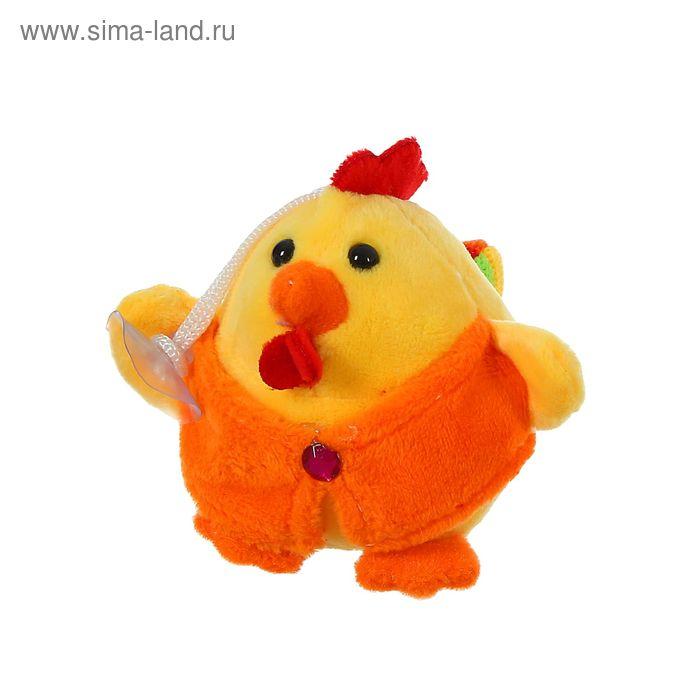 """Мягкая игрушка-присоска """"Радужный петушок"""", цвета МИКС"""