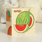Cubes wooden Fruit, set of 4 PCs.