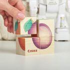 """Кубики деревянные """"Фрукты"""", набор 4 шт. - фото 106545318"""