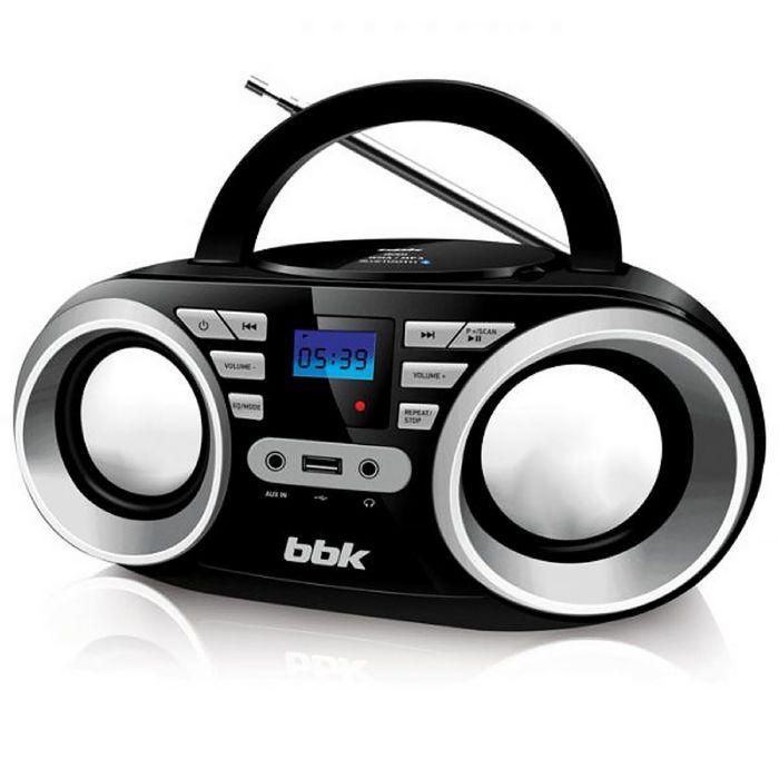 Аудиомагнитола BBK BX160BT, черный/металлик