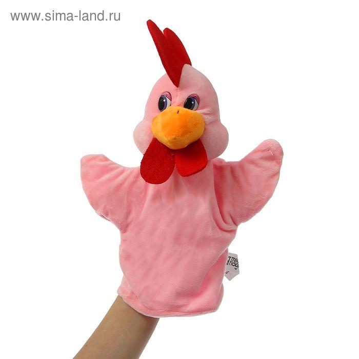 """Мягкая игрушка на руку """"Петух"""", красный гребешок, цвета МИКС"""