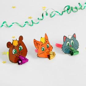 """Язычок """"Животные"""", набор 6 шт., цвета МИКС"""
