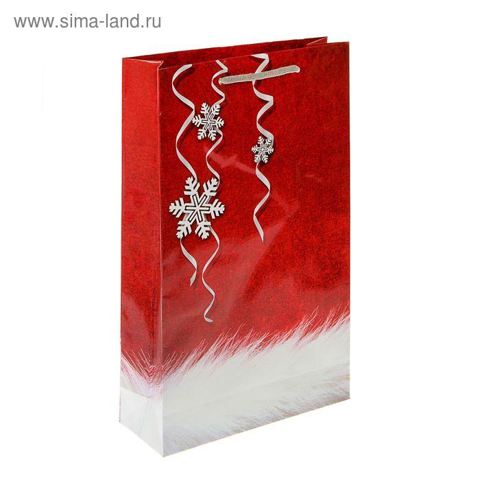 "Пакет подарочный ""Пуховый Новый Год"" 40.5 х 24.8 х 9 см"