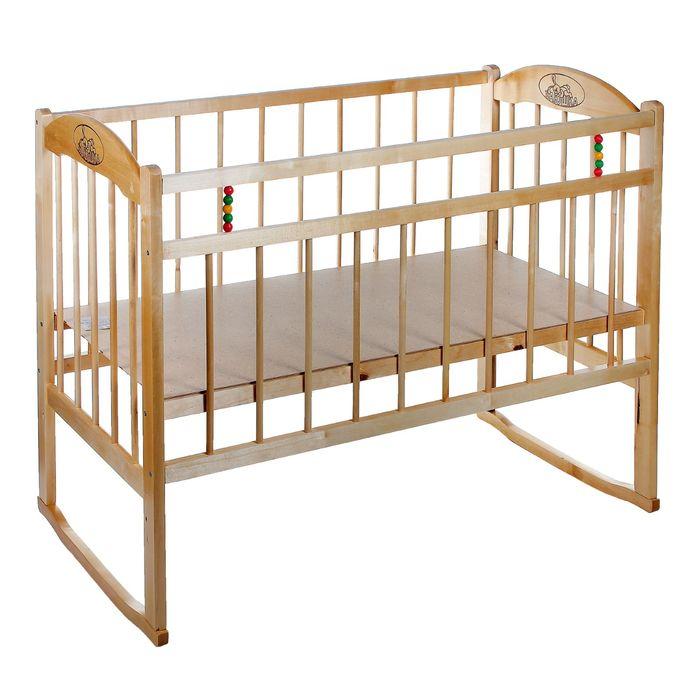Детская кроватка «Заюшка» на качалке, цвет натуральный