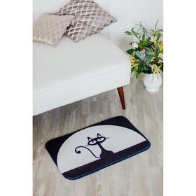 Коврик Доляна «Чёрная кошка», 40×60 см