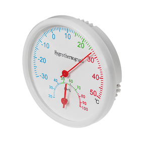 Термометр уличный, гигрометр, d=6.5 мм, белый
