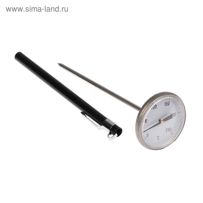 Термощуп механический 14,5 см, нержавеющая сталь, d 4,5 см, чехол