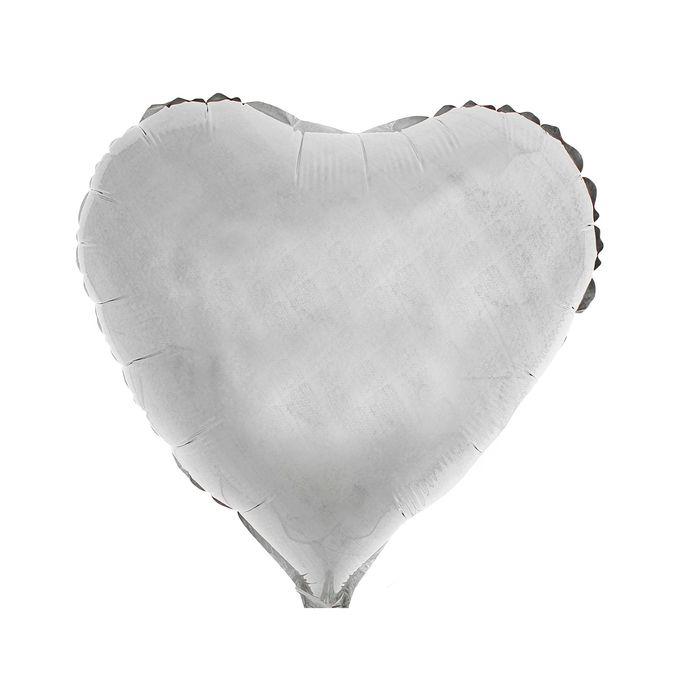 """Шар фольгированный Сердце 18"""" Голография Серебро - фото 199909377"""