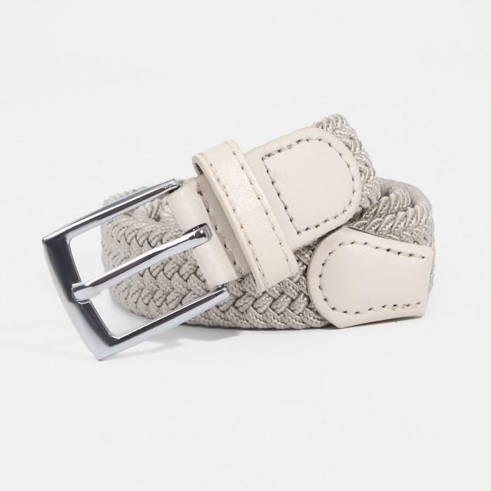 Ремень детский, пряжка под металл, ширина - 2,5см, бежевый