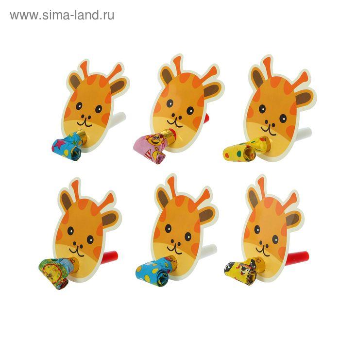 """Язычок """"Жираф"""" (набор 6 шт), цвета МИКС"""