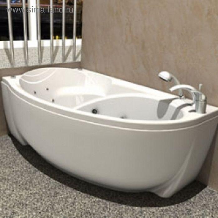 Ванна акриловая АКВАТЕК Бетта без гидромассажа 160х95, правая, с фронтальным экраном