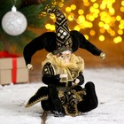 "Christmas ornament ""Clown with mask"" in a black camisole"