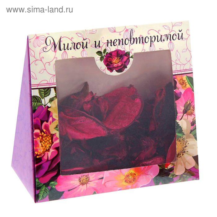 """Подарочный набор """"Милой и неповторимой"""": сухоцветы и ароматическая эссенция"""