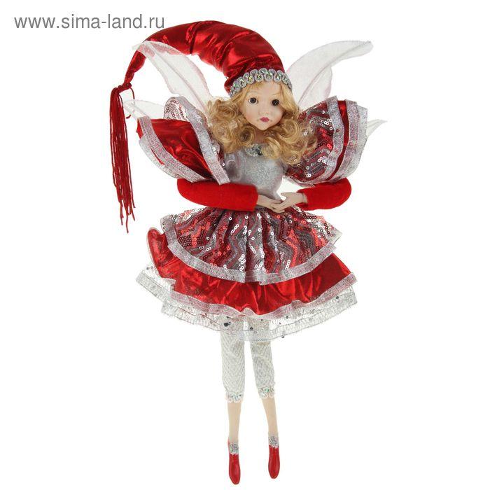 """Новогоднее украшение """"Фея в красном платье"""""""