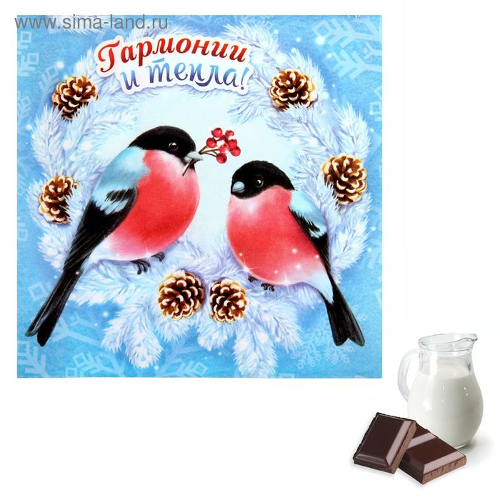 "Аромасаше в конверте ""Гармонии и тепла"", аромат сливочного шоколада"